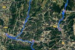 Erwähnte Orte (mit Route)